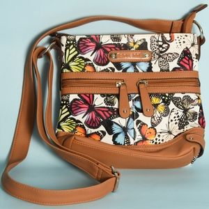Colorful Butterfly Lover crossbody Rosetti purse